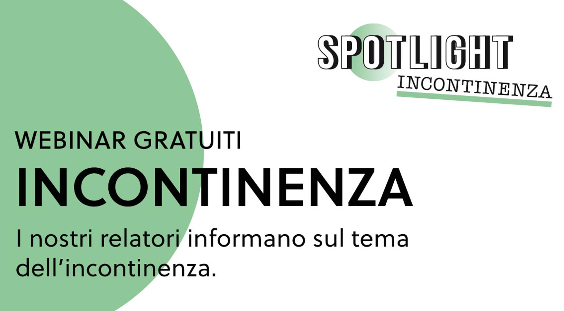 """Webinar sul tema """"Incontinenza – che fare?"""" in italiano"""